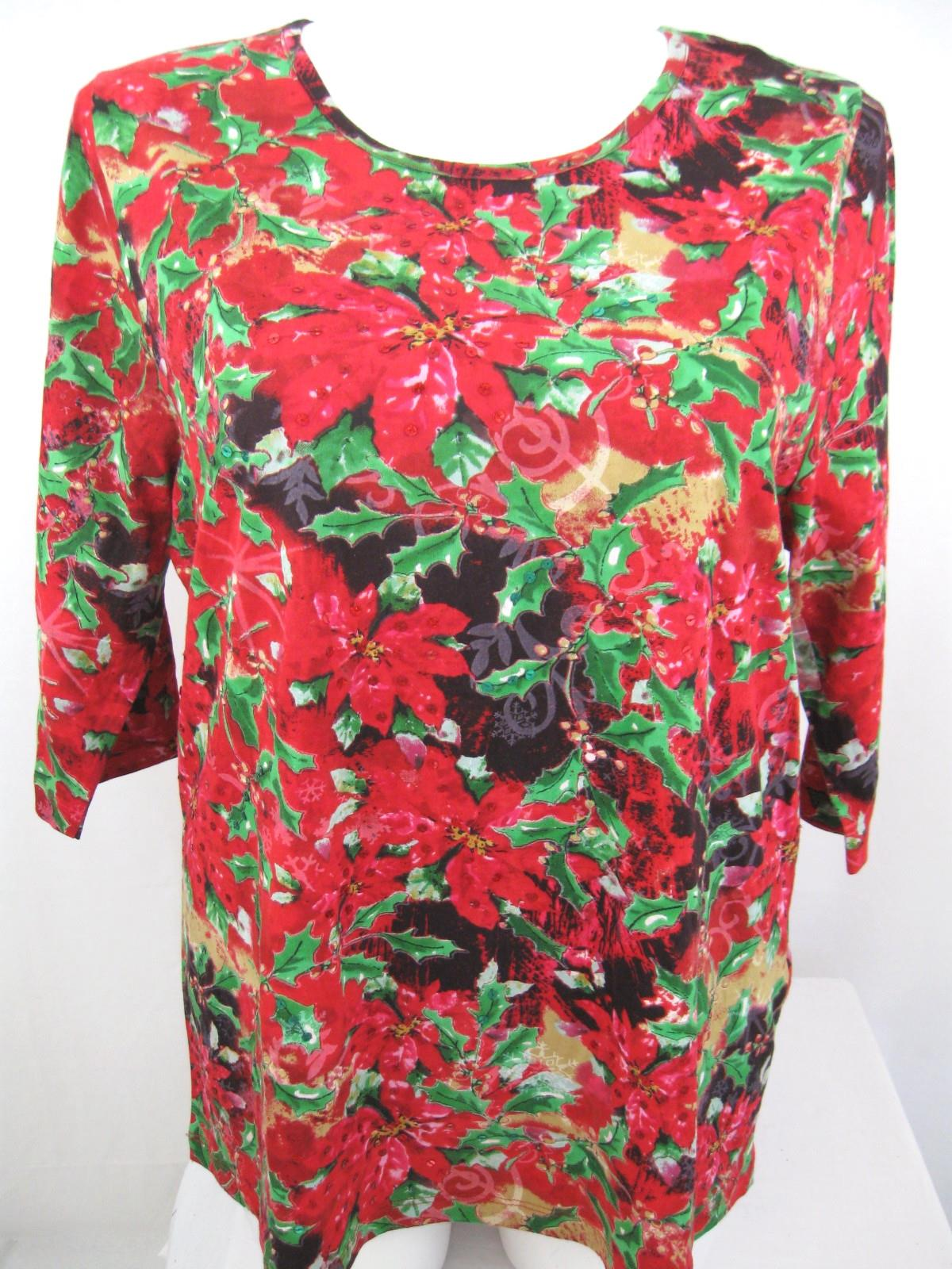 Liz-Me-for-Catherines-Plus-Size-3-4-Sleeve-Print-Holiday-Top-with-Sequins