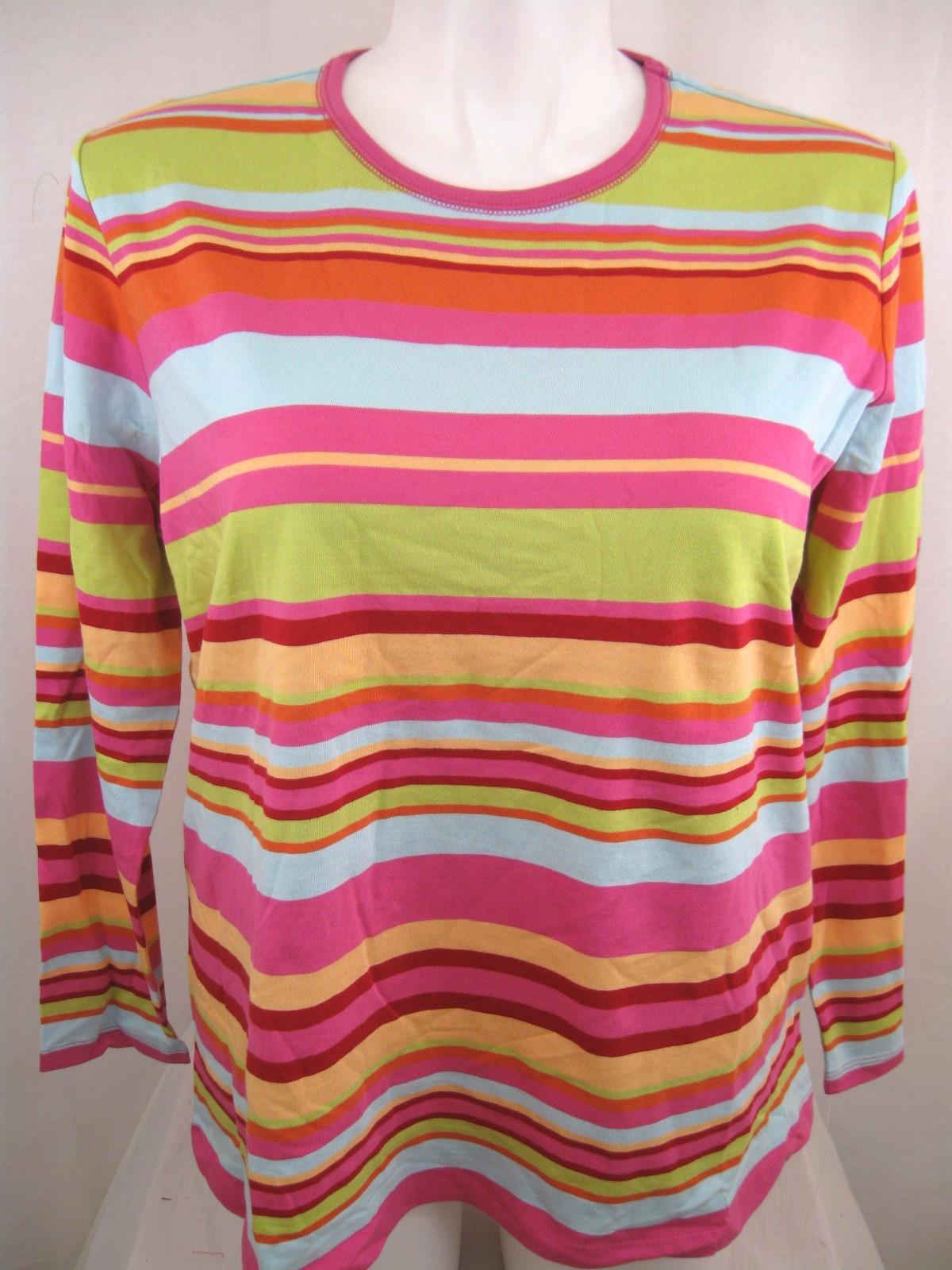 Covington-Woman-Plus-Size-Striped-Long-Sleeve-Knit-Top-w-Crew-Neck