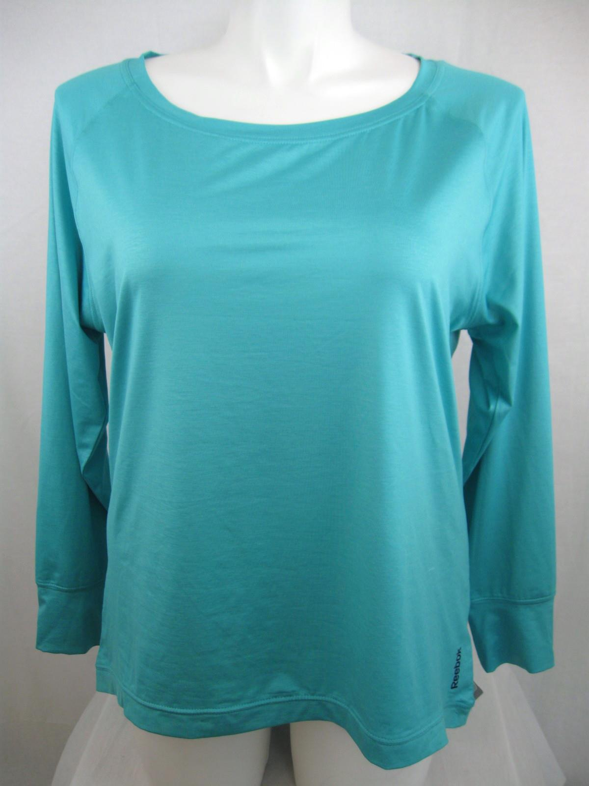 Reebok Plus Size Play Dry Long Sleeve Find Your Own Fitness Top | eBay