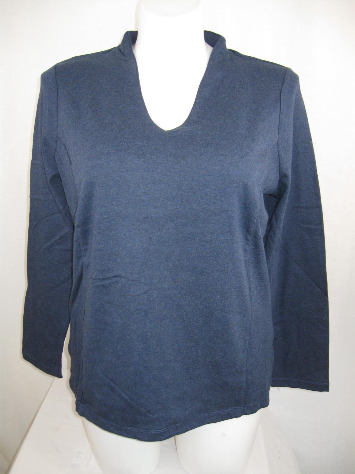 Liz claiborne woman plus size 100 cotton v neck top with for Liz claiborne v neck t shirts