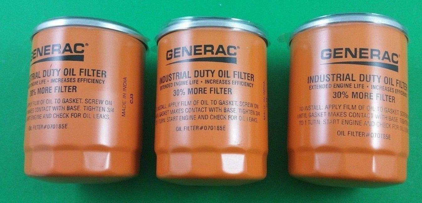generac 070185e 3 guardian generator oil filter 3 pack. Black Bedroom Furniture Sets. Home Design Ideas