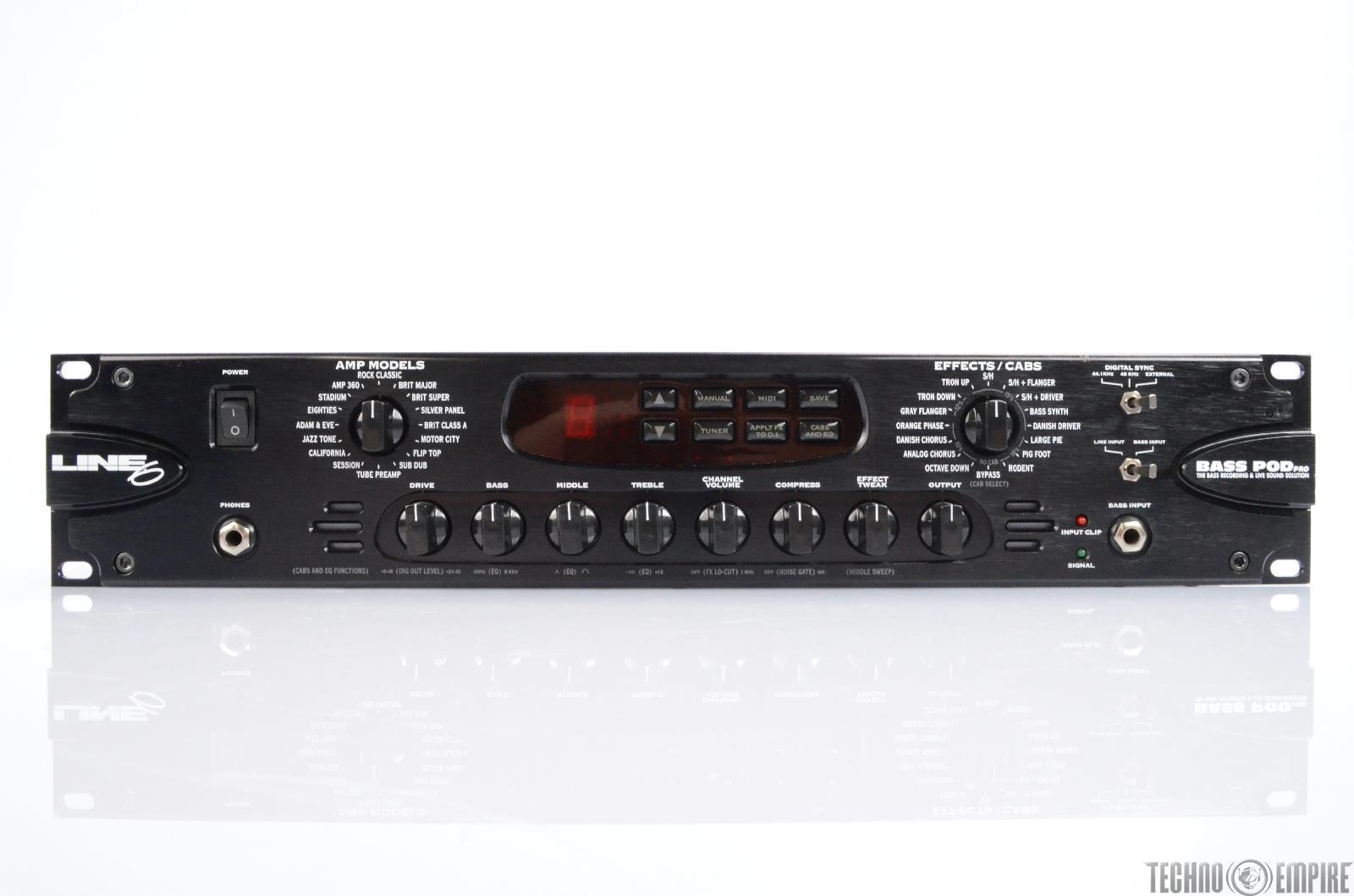 line 6 bass pod pro amp simulator effects processor rack 25343 ebay. Black Bedroom Furniture Sets. Home Design Ideas