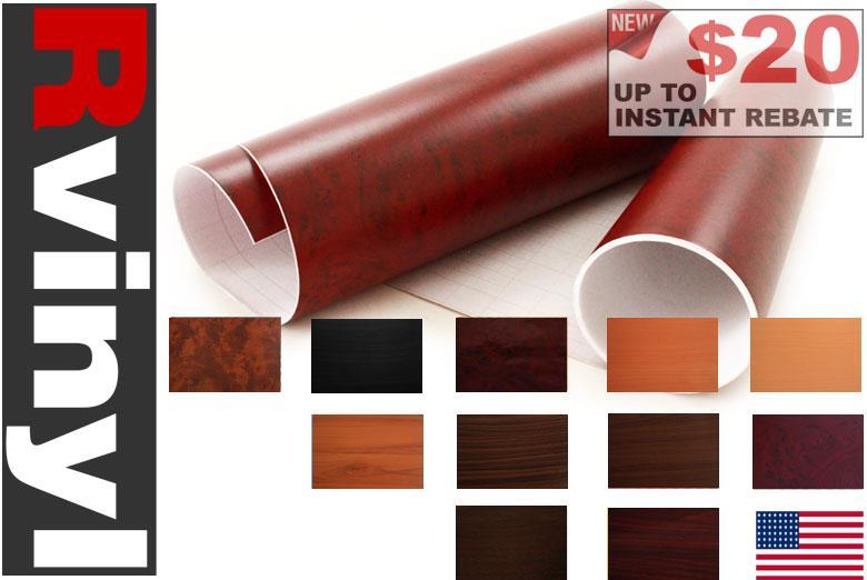Rwraps Wood Grain Vinyl Wrap Sheet Film Roll For License
