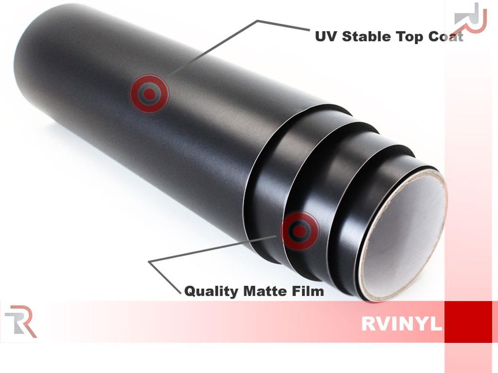 Rwraps Matte Flat Vinyl Wrap Sheet Film Roll For Hood Roof