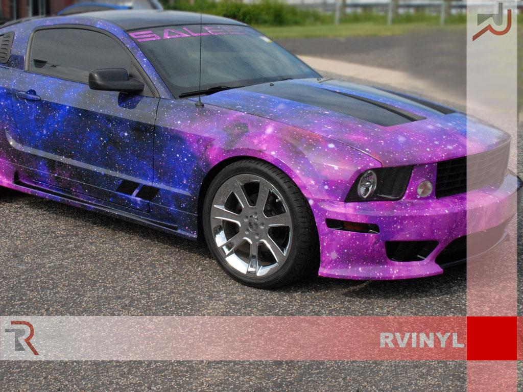 Rwraps Galaxy Vinyl Wrap Sheet Film Roll For Chrome Dash