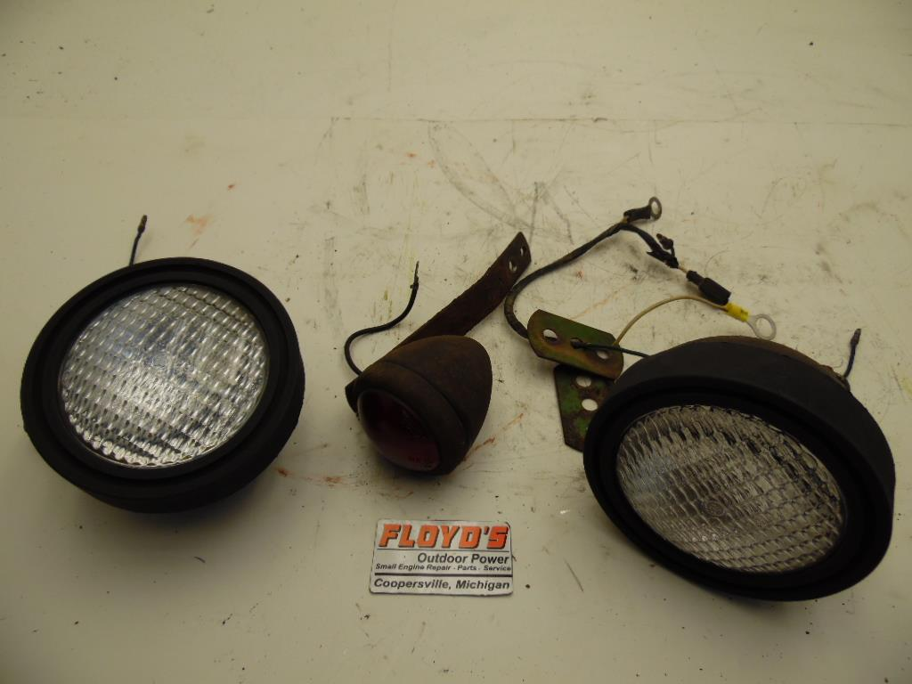 Tractor With Headlights : John deere round fender garden tractor headlights