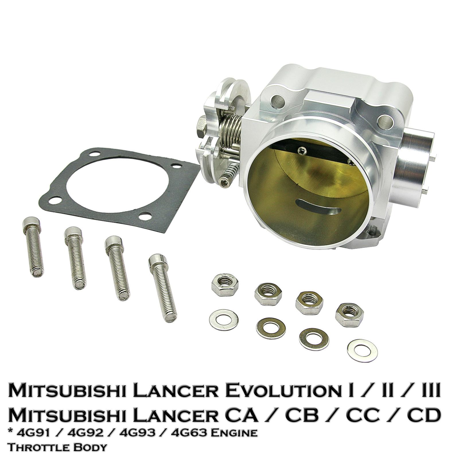 Aluminum 70mm Throttle Body For Mitsubishi Lancer: 70mm Aluminium Throttle Body Fit Mitsubishi Lancer Evo 1 2