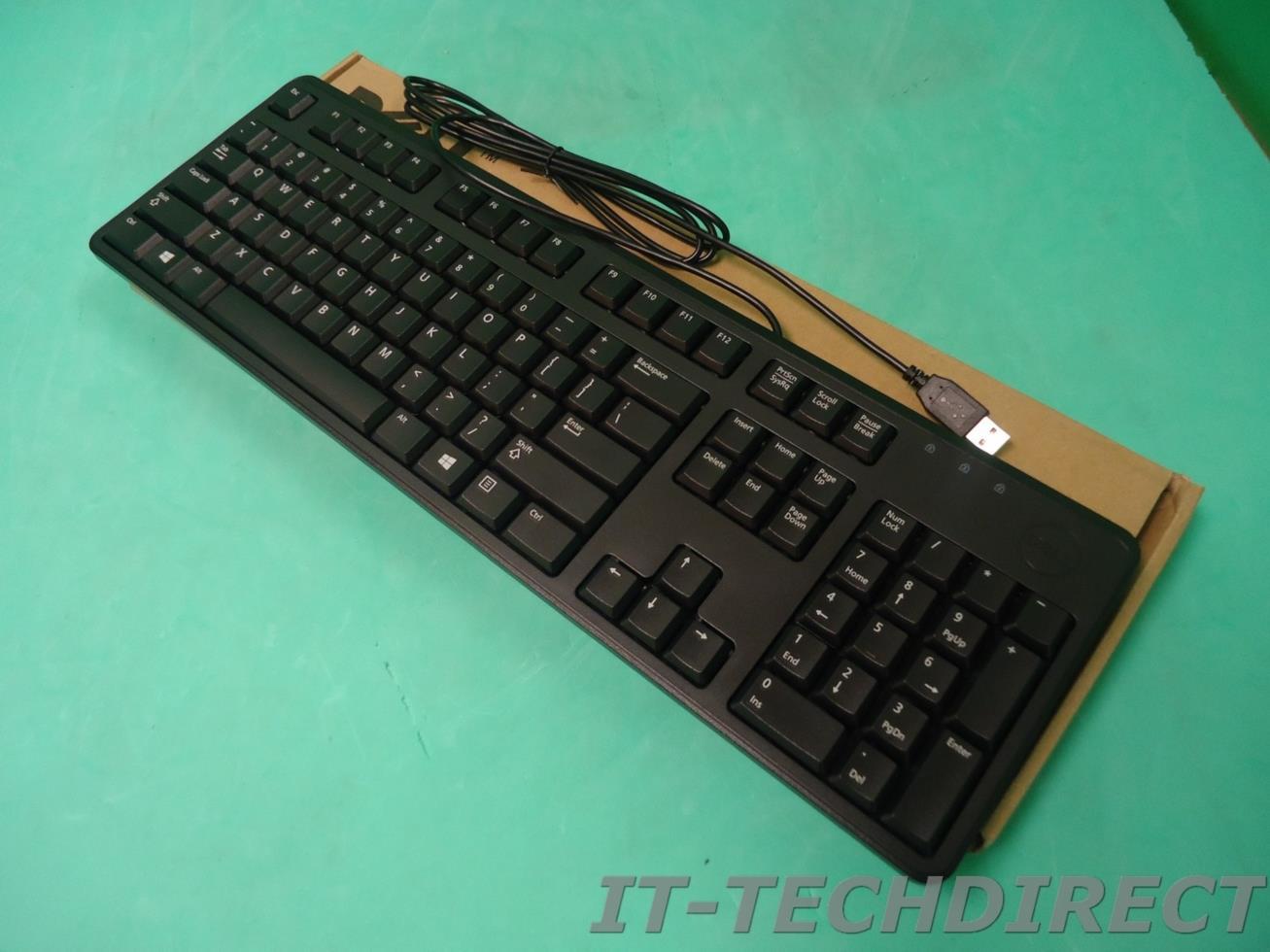 NEW Dell Wired Black USB Standard Black Keyboard 4G481 C638N KB212-B ...